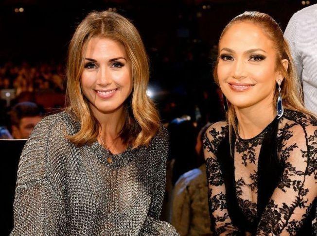 STJERNEMØTE: Tone Damli møtte sin internasjonale «Idol»-dommerkollega Jennifer Lopez under USA-turen. Bildet er gjengitt med tillatelse.