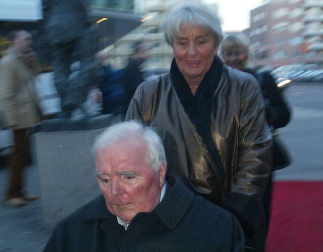 """GÅTT BORT: Kjell Hanssen døde natt til 1. juledag. Her er han sammen med sin kone Ingeborg Moræus Hanssen på premieren til filmen """"Jeg er Dina""""."""