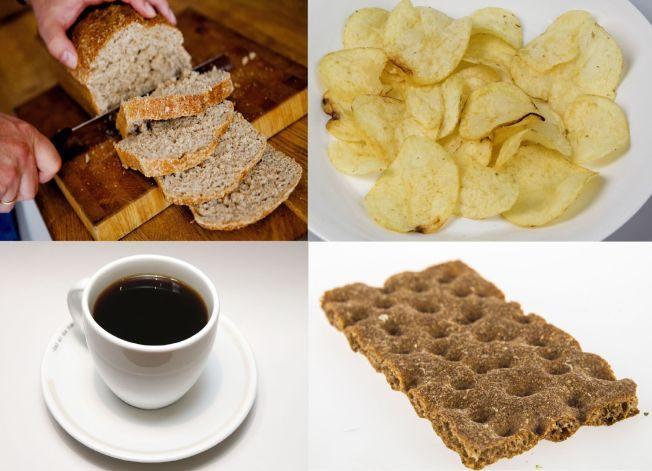 HØYT INNTAK: Dette er blant matvarene som bidrar til nordmenns akrylamid-inntak - som bekymrer EFSA.