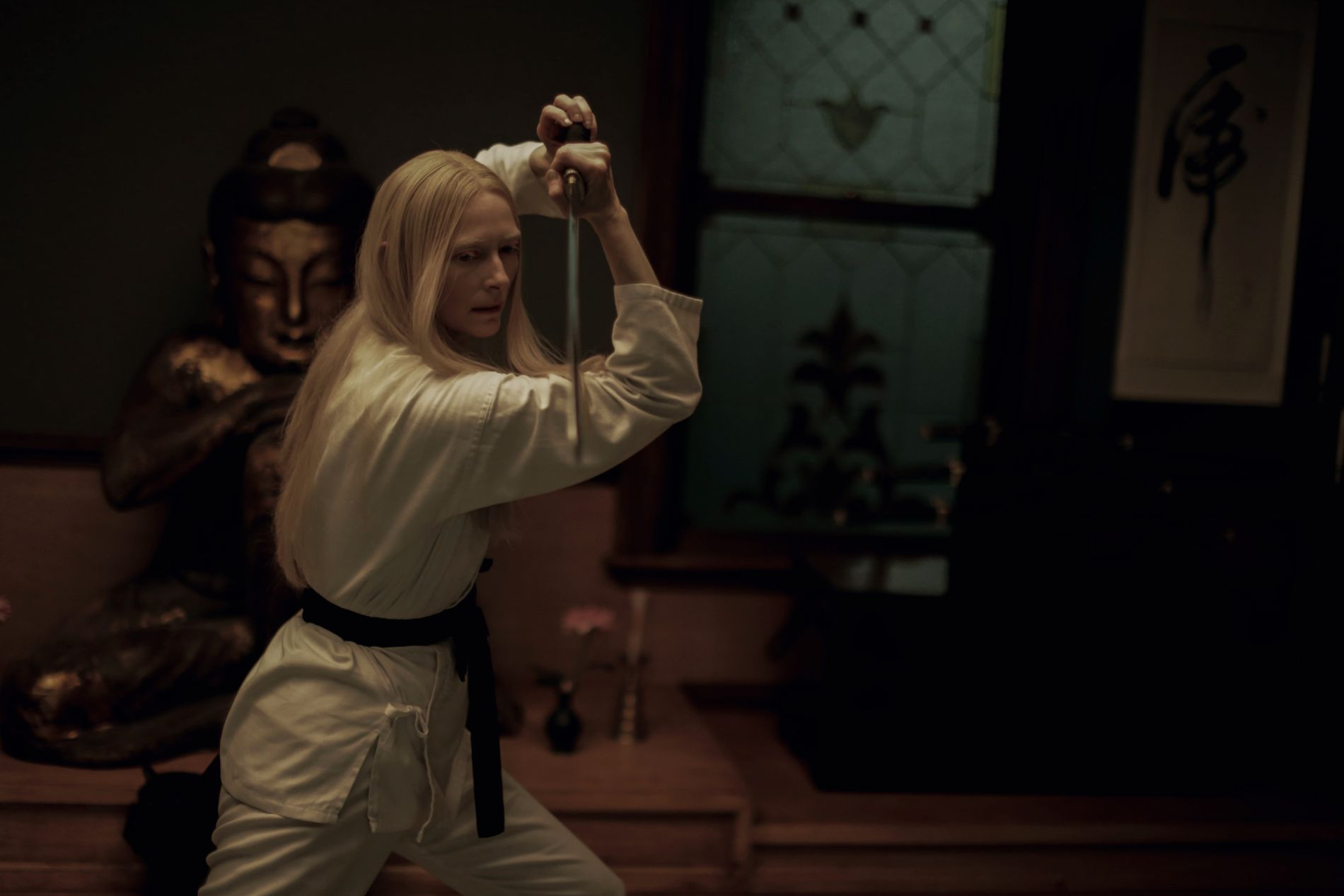 DEN SKOTSKE SAMURAI: Tilda Swinton i «The Dead Don't Die».