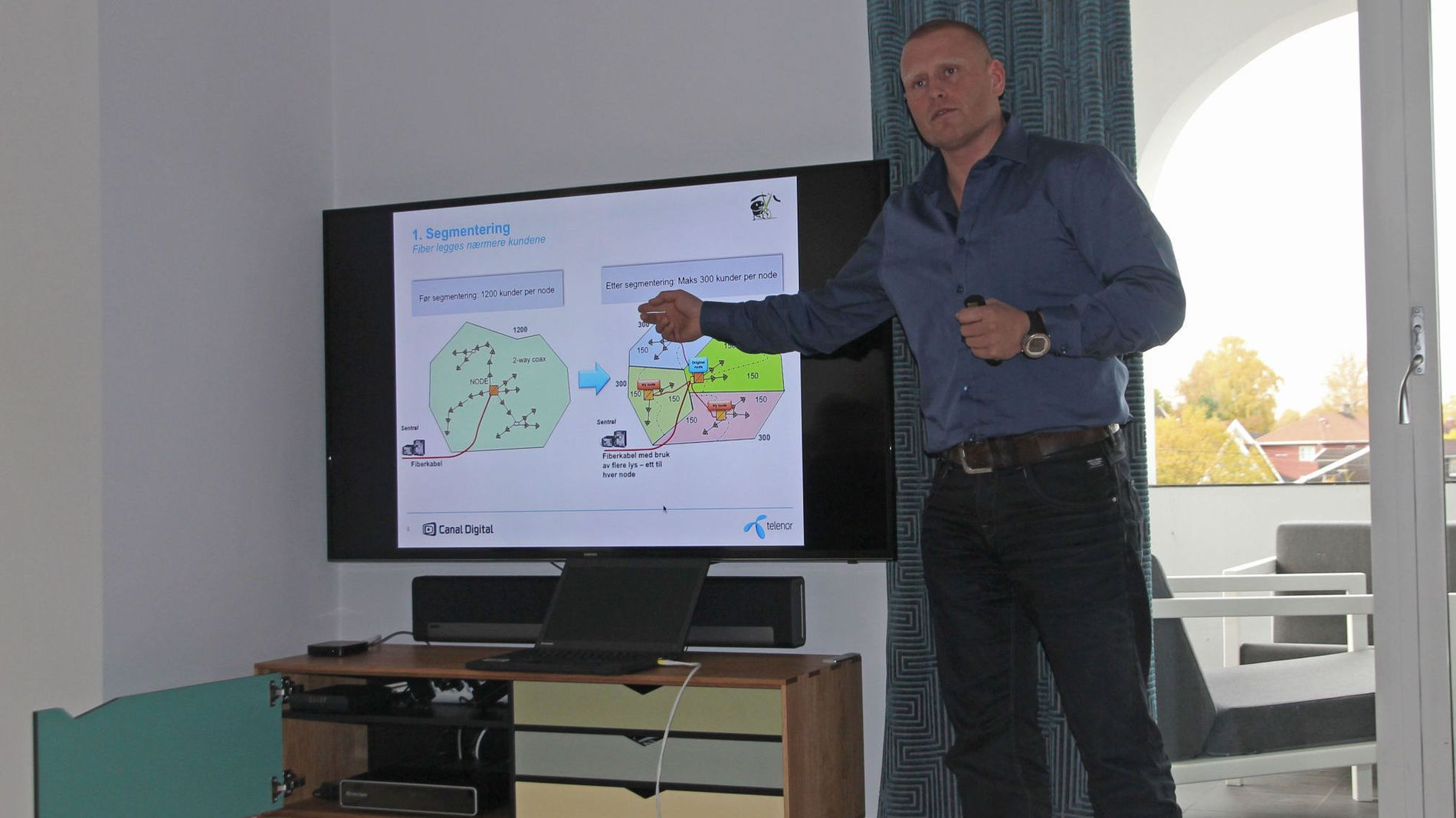 Thomas André Larsen, teknisk sjef for bredbånd i Canal Digital (Kabel-TV), et selskap i Telenor Norge.