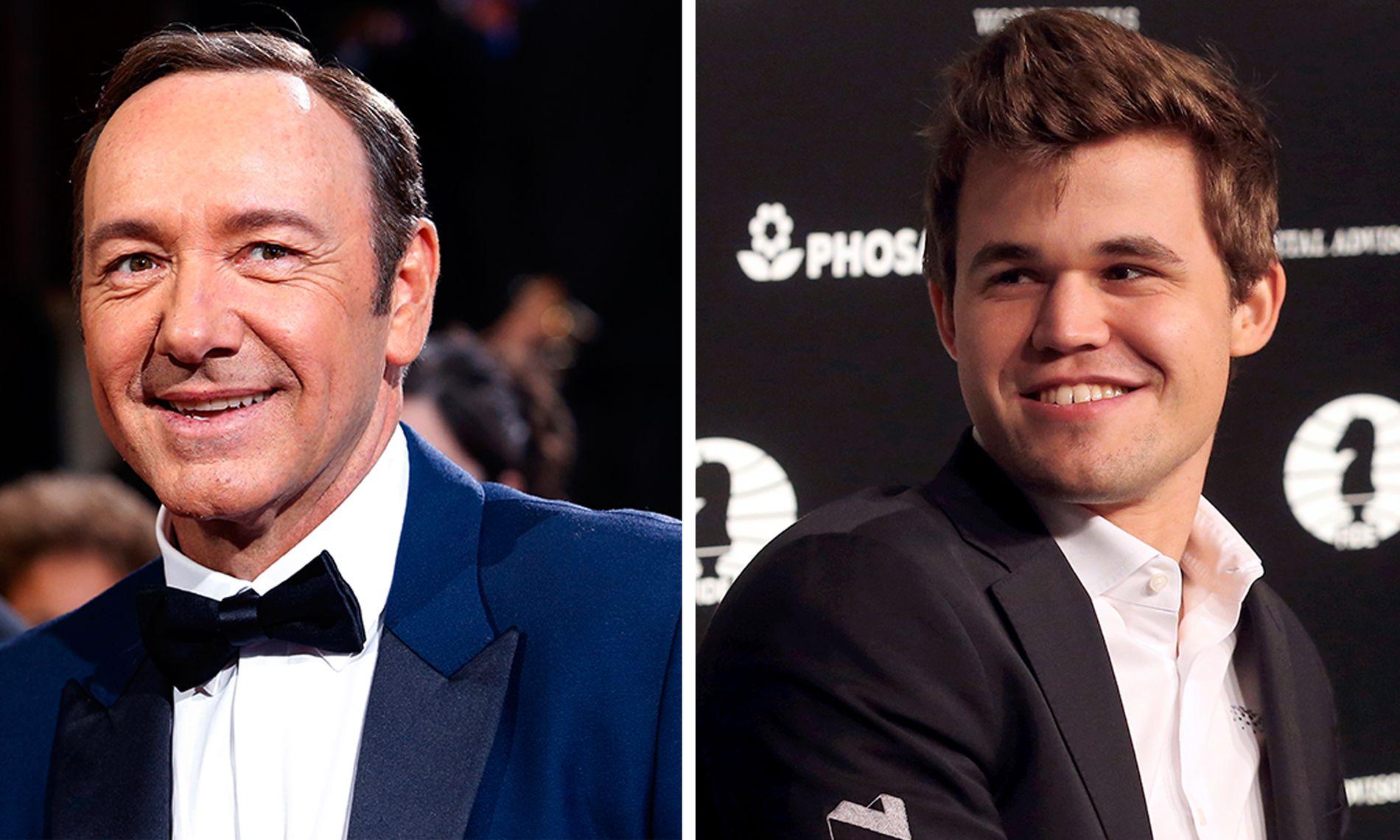 STJERNETREFF: Kevin Spacey, her under Oscar-utdelingen i 2014, møtte verdensmester Magnus Carlsen til et parti sjakk i California tidlig i mai.