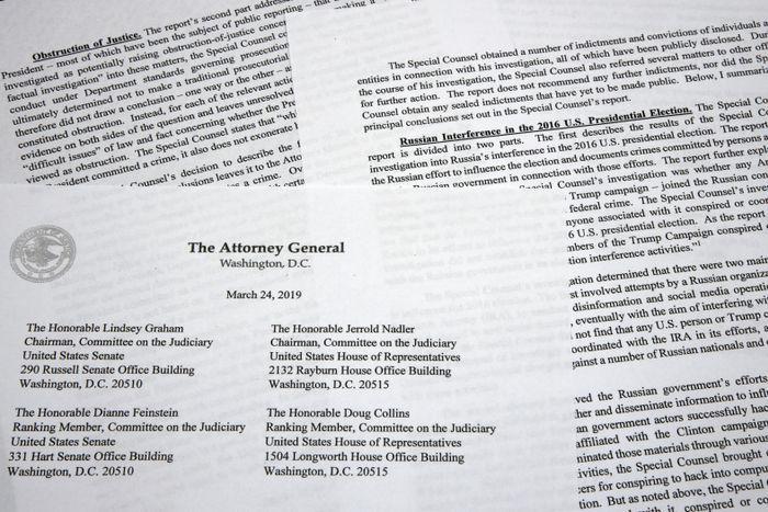 BEKREFTELSEN: Justisminister William Barr har sendt en sammenfatning av Mueller-rapporten til Kongressen.