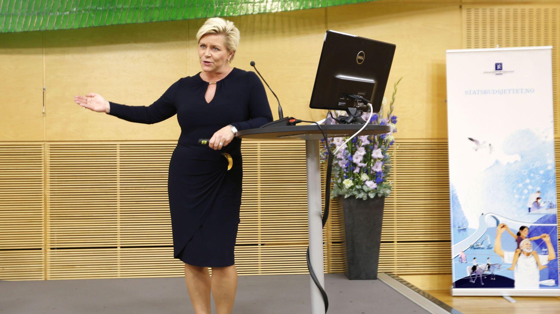 STØRSTE KUTT: Kuttet i formuesskatten er den desidert største skatteletten i finansminister Siv Jensens forslag til statsbudsjett for 2015.