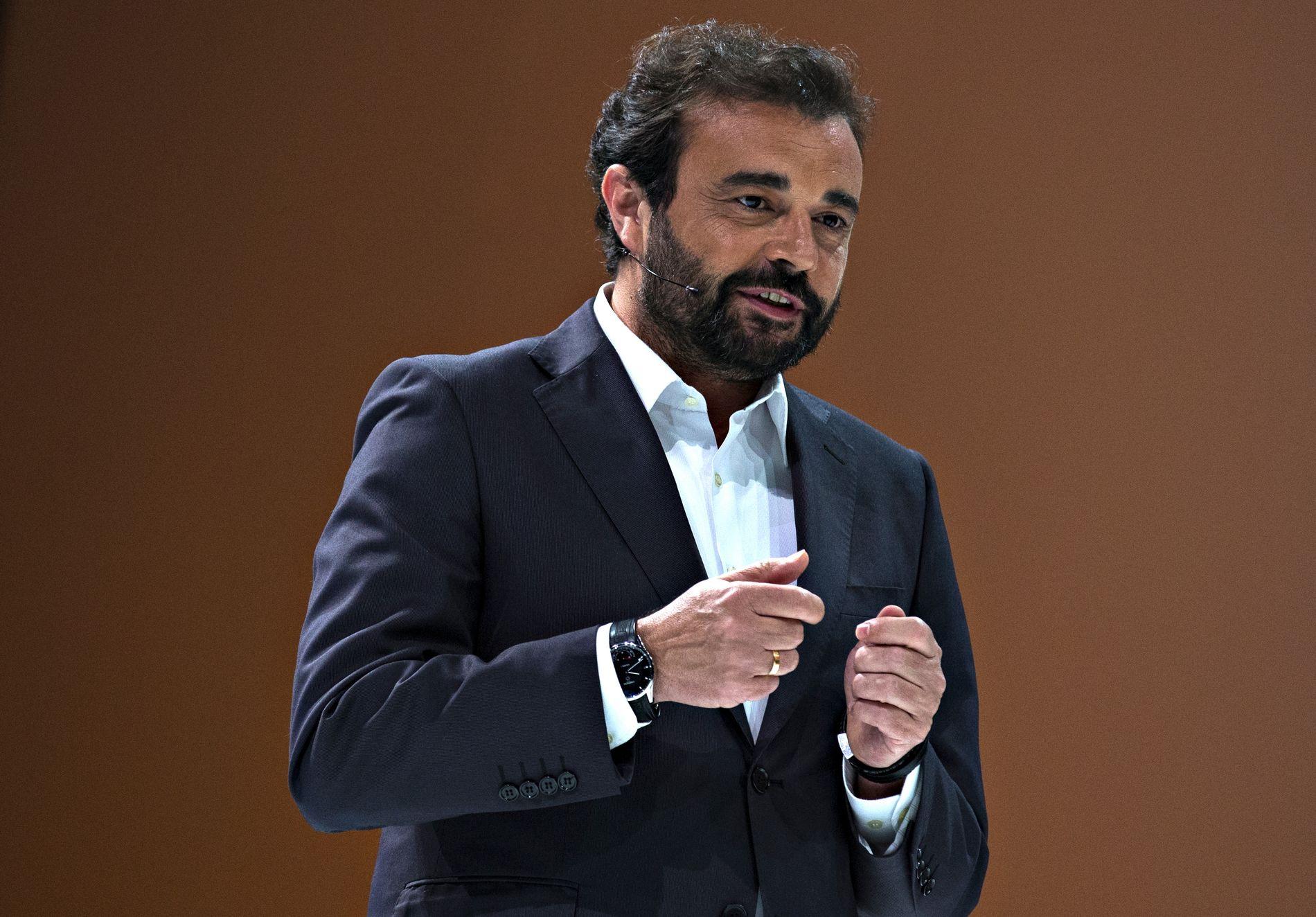 MEKTIG: Real Madrids klubbdirektør José Ángel Sánchez, her fra en Microsoft-konferanse i Chicago i 2015.