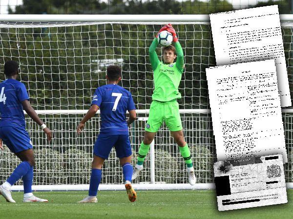 CHELSEAS EIENDOM: Keeperen Karlo Ziger (17) er fortsatt eid av Chelsea, selv om han er lånt ut til nivå 5-klubben Sutton United i England.