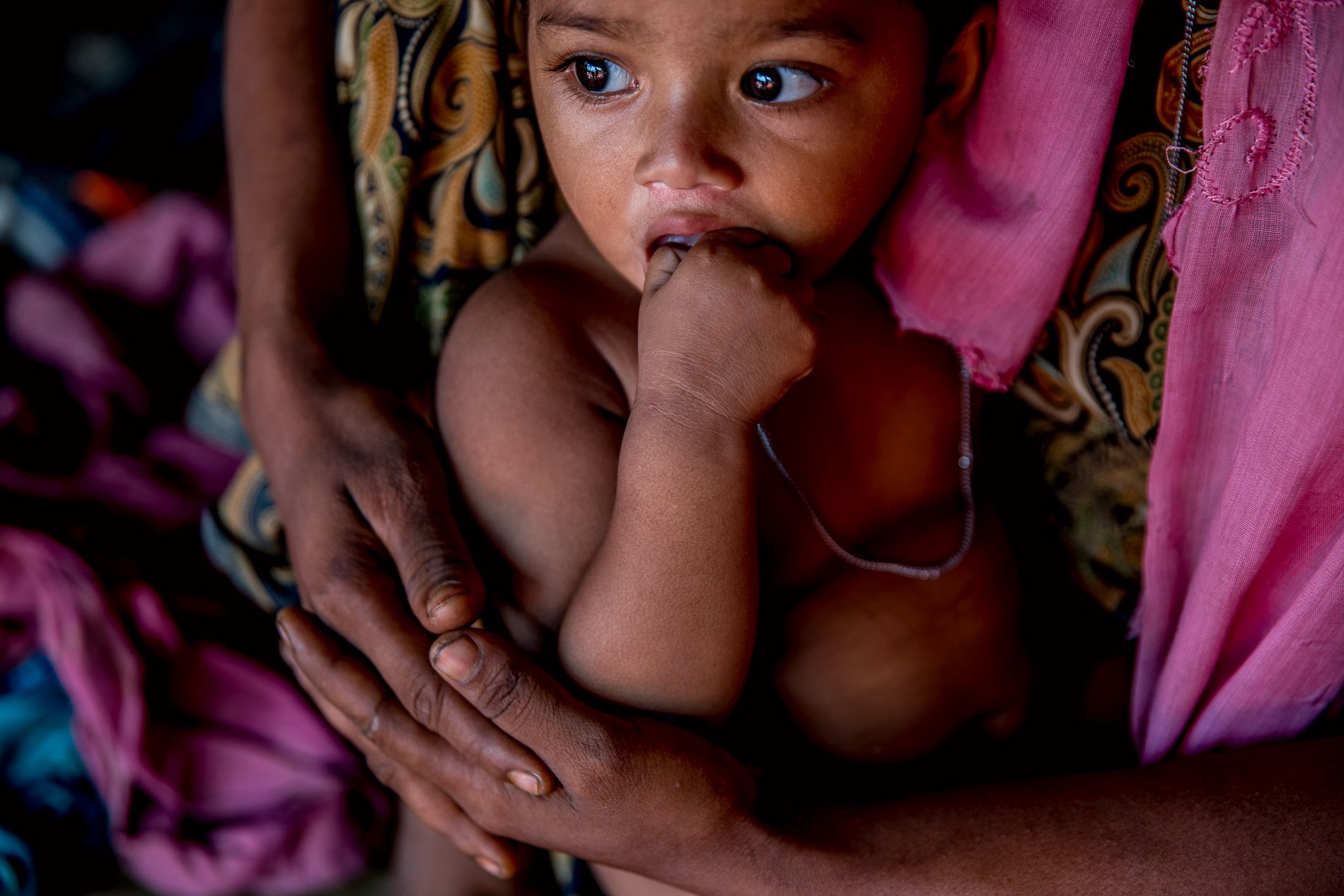 REDDET: Ett år gamle Mobasherza var i livsfare, men er nå trygg inntil moren.