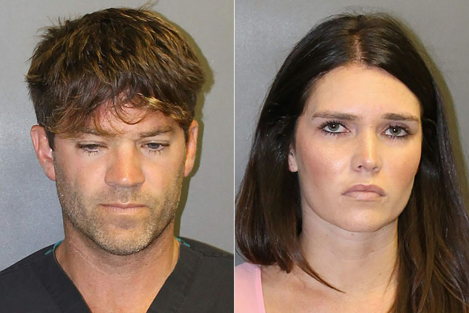 SIKTET:  Arrestasjonsbildene av Grant William Robicheaux  og Cerissa Laura Riley.