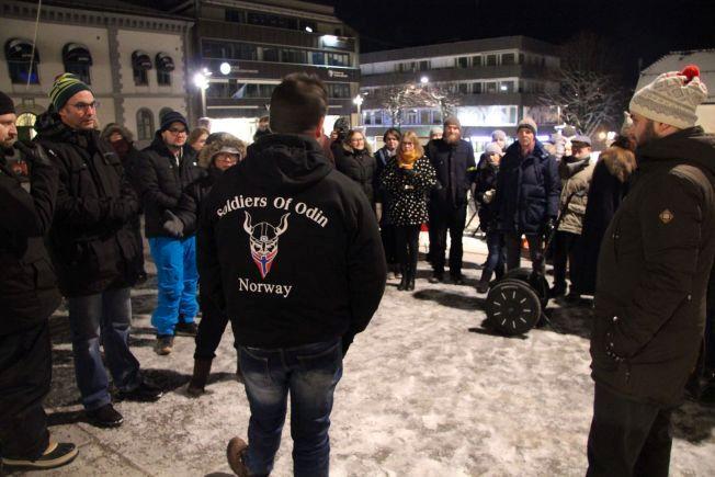 ARGUMENTERTE: Ronny Alte forsøkte å forsvare hvorfor Soldiers of Odin skulle patruljere i byen, men fikk ikke gehør hos motaksjonistene fra SV og flere andre partier fra bystyret i Tønsberg.