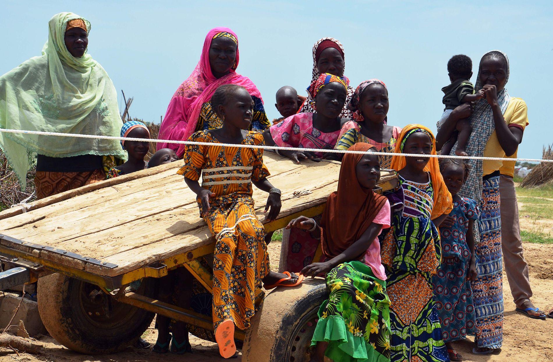 FLYKTNINGER I NIGER: Nigerianske flyktninger fotografert 10. september i en flyktningleir i Ngagam, 50 kilometer fra Diffa sørøst i Niger ved grensen til Nigeria. 12 500 flyktninger fra Niger og Nigeria lever i leiren blant annet etter handlinger av den islamistiske gruppen Boko Haram.