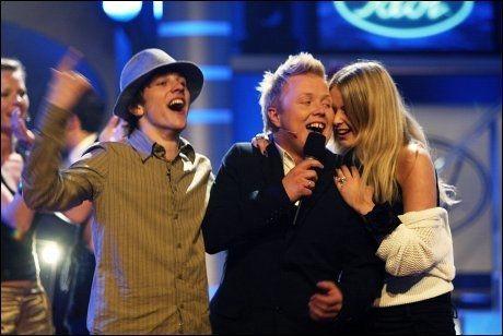 2003: For ti år siden gikk Kurt Nilsen av med seieren i Idol. Her sammen med David Pedersen og Linn Solemdal Andersen. Foto: MAGNAR KIRKNES/VG