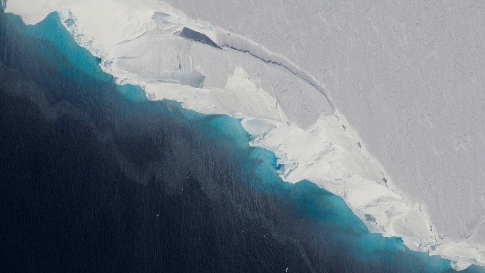 HULLET: Thwaites-breen i Antarktis som har overrasket NASA.