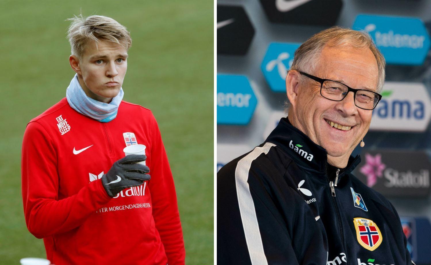 BÄCK IN BUSINESS: Martin Ødegaard (t.h.) er tatt ut på det norske landslaget for første gang under Lars Lagerbäck.