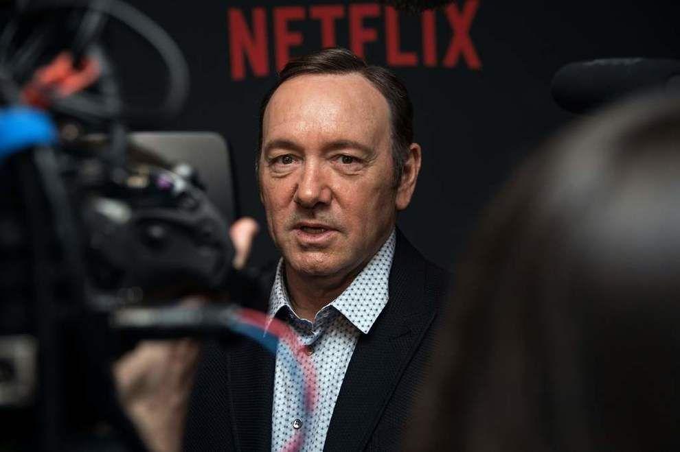 I HARDT VÆR: Skuespiller Kevin Spacey. Her på en pressekonferanse i fjor.