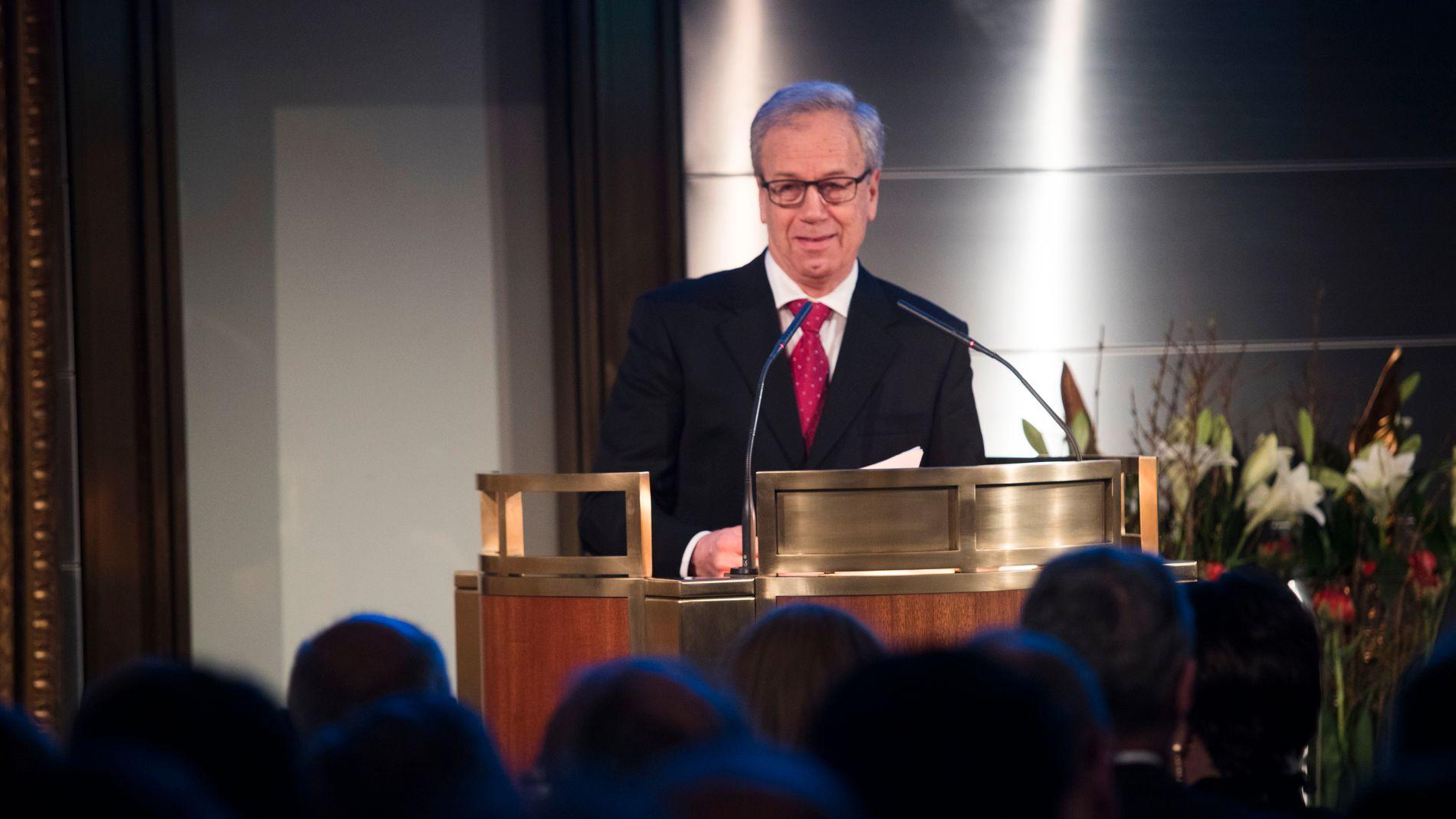 RIKETS TILSTAND: Sentralbanksjef i Norges Bank, Øystein Olsen, holdt torsdag sin årlige tale om Norges økonomi sett fra Norges Banks ståsted.