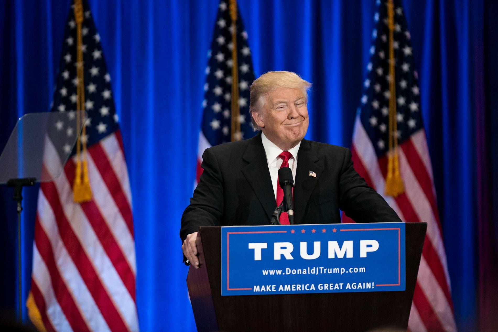 NYE FIRE ÅR? USAs president Donald Trump vil stille som kandidat i det neste presidentvalget.