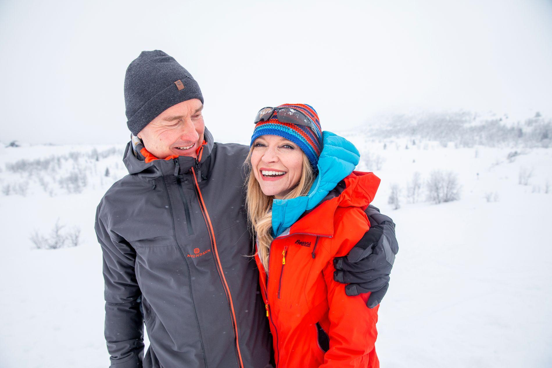 VINTERIDYLL: Trude Mostue koste seg på Beitostølen sammen med samboeren Cato Sælid i vinterferien da VG kom på besøk.
