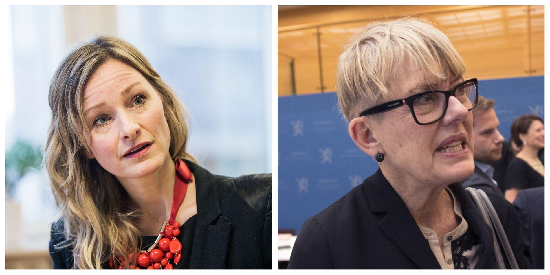BITTER STRID: Skolebyråd Inga Marte Thorkildsen (SV) og leder for Utdanningsetaten i Oslo kommune, Astrid Søgnen.