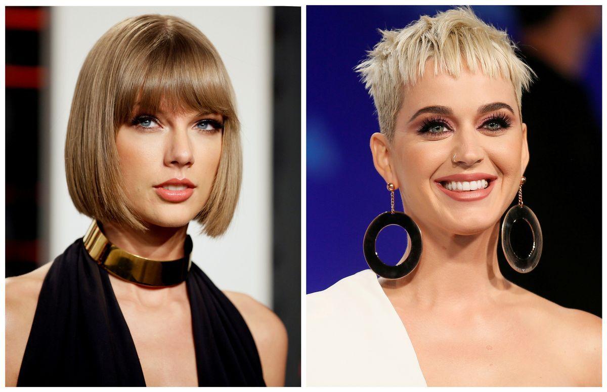VENNER: Syv år etter at de havnet i krangel, har Taylor Swift (t.v.) invitert Katy Perry med på sitt siste sprell.