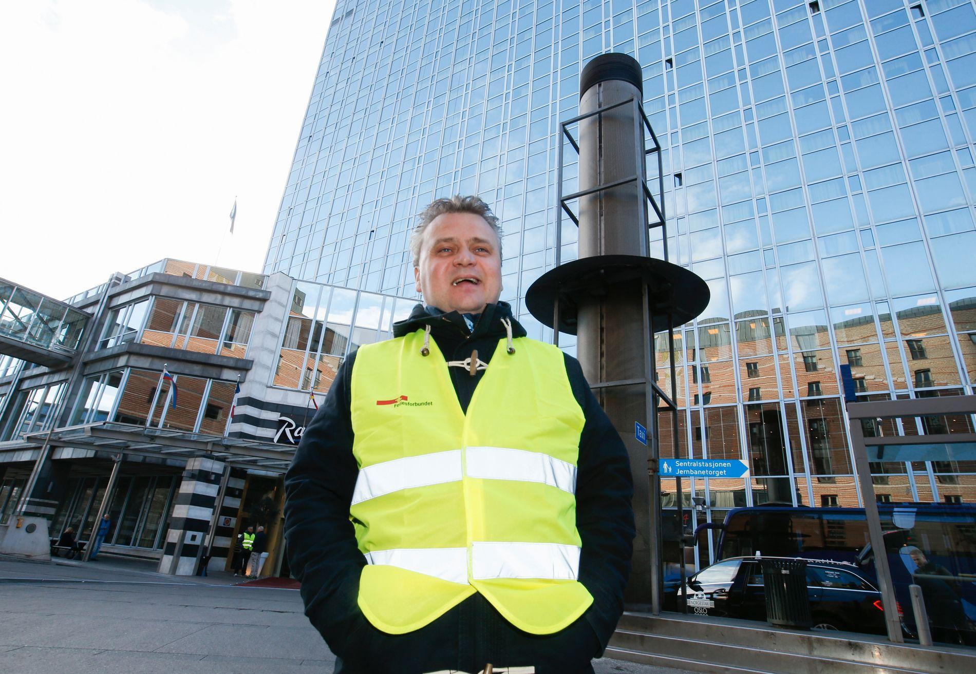TRAPPER OPP: Forbundsleder i Fellesforbundet, Jørn Eggum, dro i gang en streik i sitt første lønnsoppgjør etter at han ble forbundsleder.