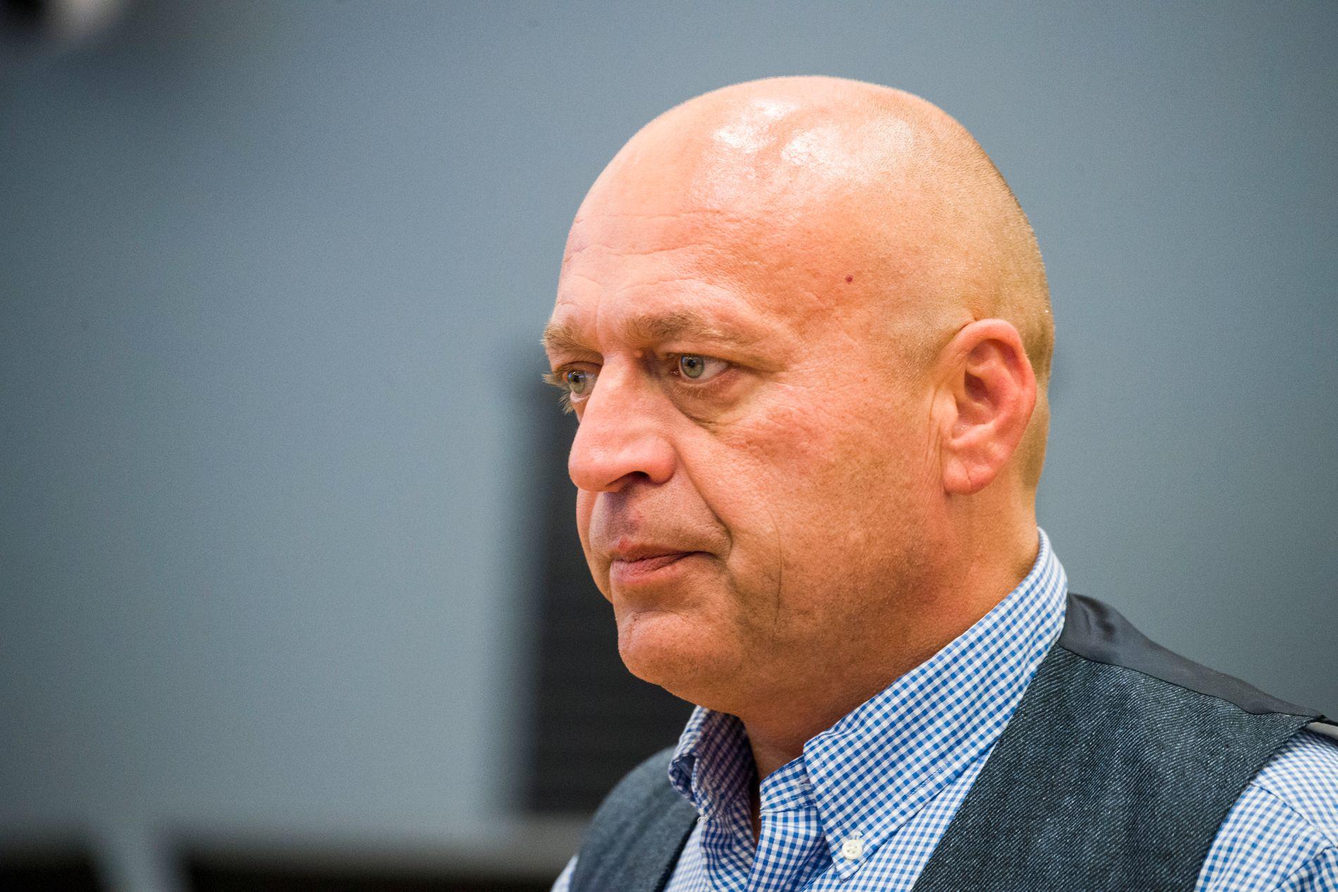 TIL ANGREP: Gjermund Cappelen, som står tiltalt for grov korrupsjon og narkotikakriminalitet, tordnet mot Eirik Jensen i retten i dag.