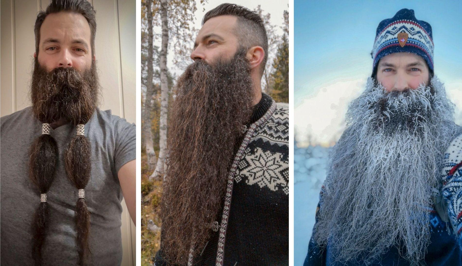 VINNERSKJEGG: Fugelsnes har blant annet vunnet titlene «Norges beste skjegg 2016» og «Norges beste store skjegg 2017».