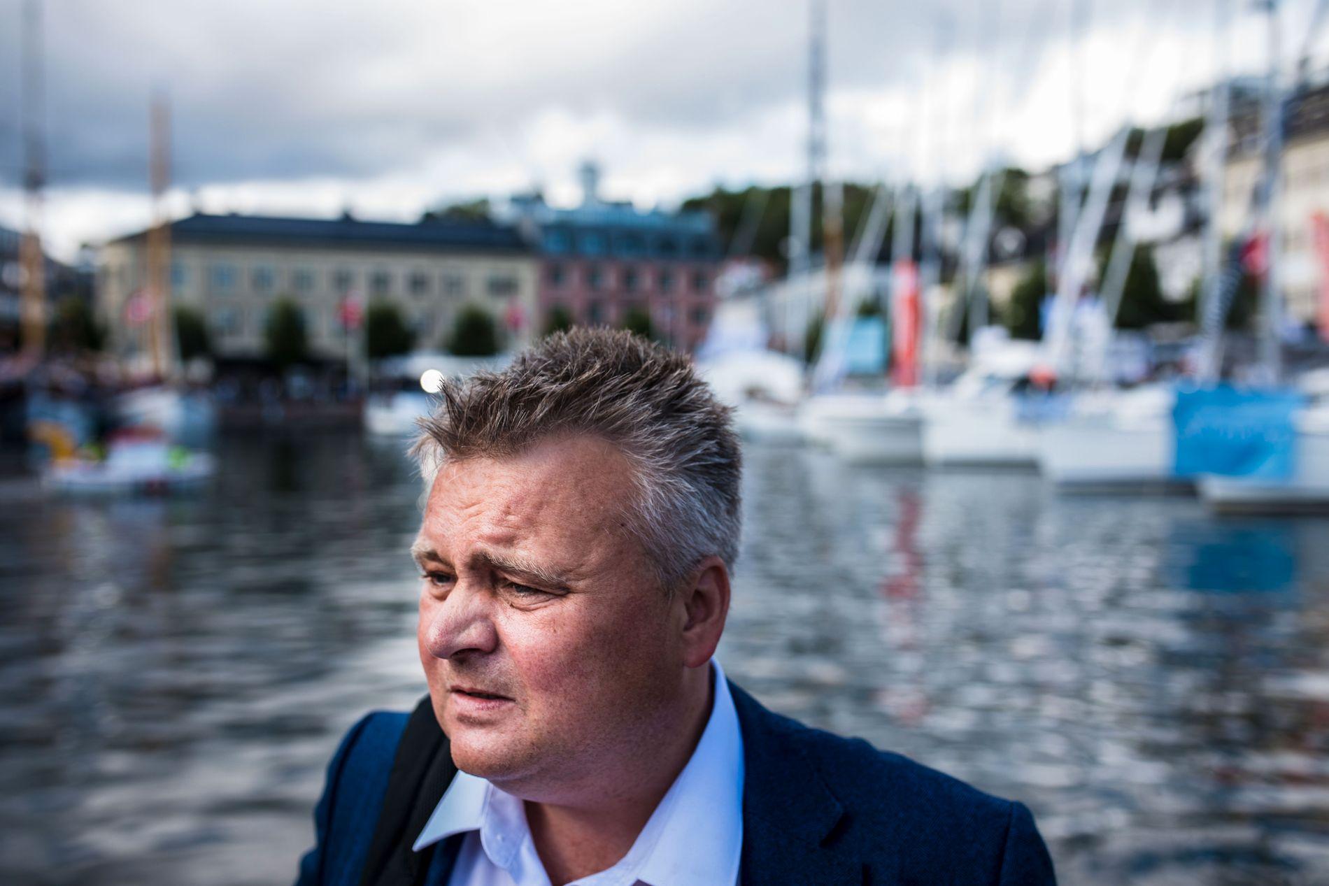 LEDER «GUTTA PÅ GØLVET»: Fellesforbundsleder Jørn Eggum er på Arendalsuka og gir full støtte i kampen mot deltid i offentlig sektor.