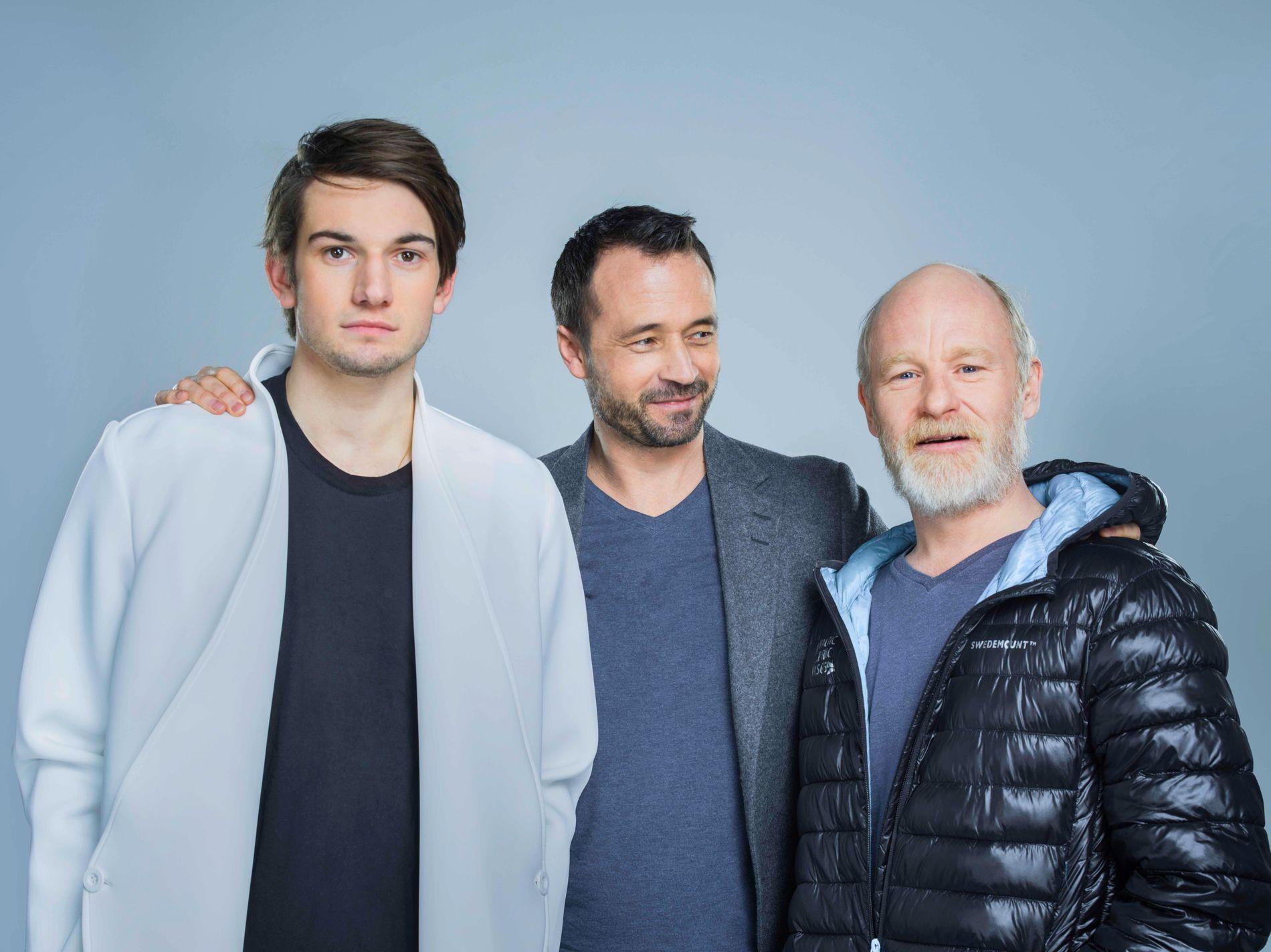 TIL GJENSIDIG NYTTE: Thomas Hayes, Harald Dal og Eivind Sander i «Han heter ikke William».