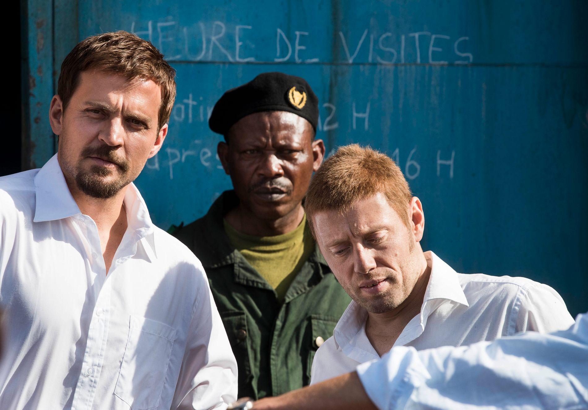 MYE FORARBEID: Tobias Santelmann spiller rollen som Tjostolv Moland i «Mordene i Kongo». Aksel Hennie har rollen som Joshua French. Begge måtte gjøre mye research før de gikk inn i prosjektet.