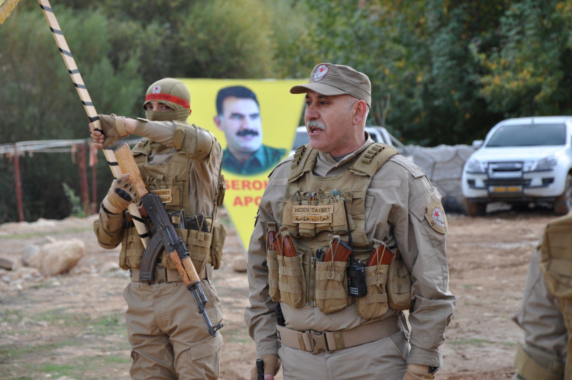 ANGRIPES AV STORMAKT: Bahjat Abdo leder militsgruppen YPGs forsvar av Afrin, enklaven som nå angripes av tyrkiske styrker.