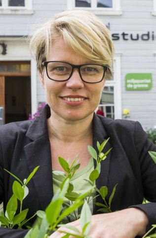 FORNØYD: De Grønes toppkandidat i Trondheim, Hilde Opoku, varsler tøffe krav i forhandlingene med de andre partiene.