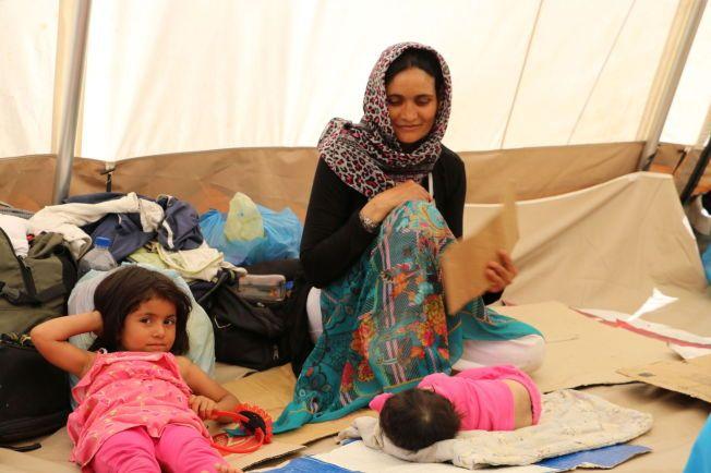 MANGE BARN: Lysbakken ble overrasket over hvor mange barn som er i de ulike leirene.