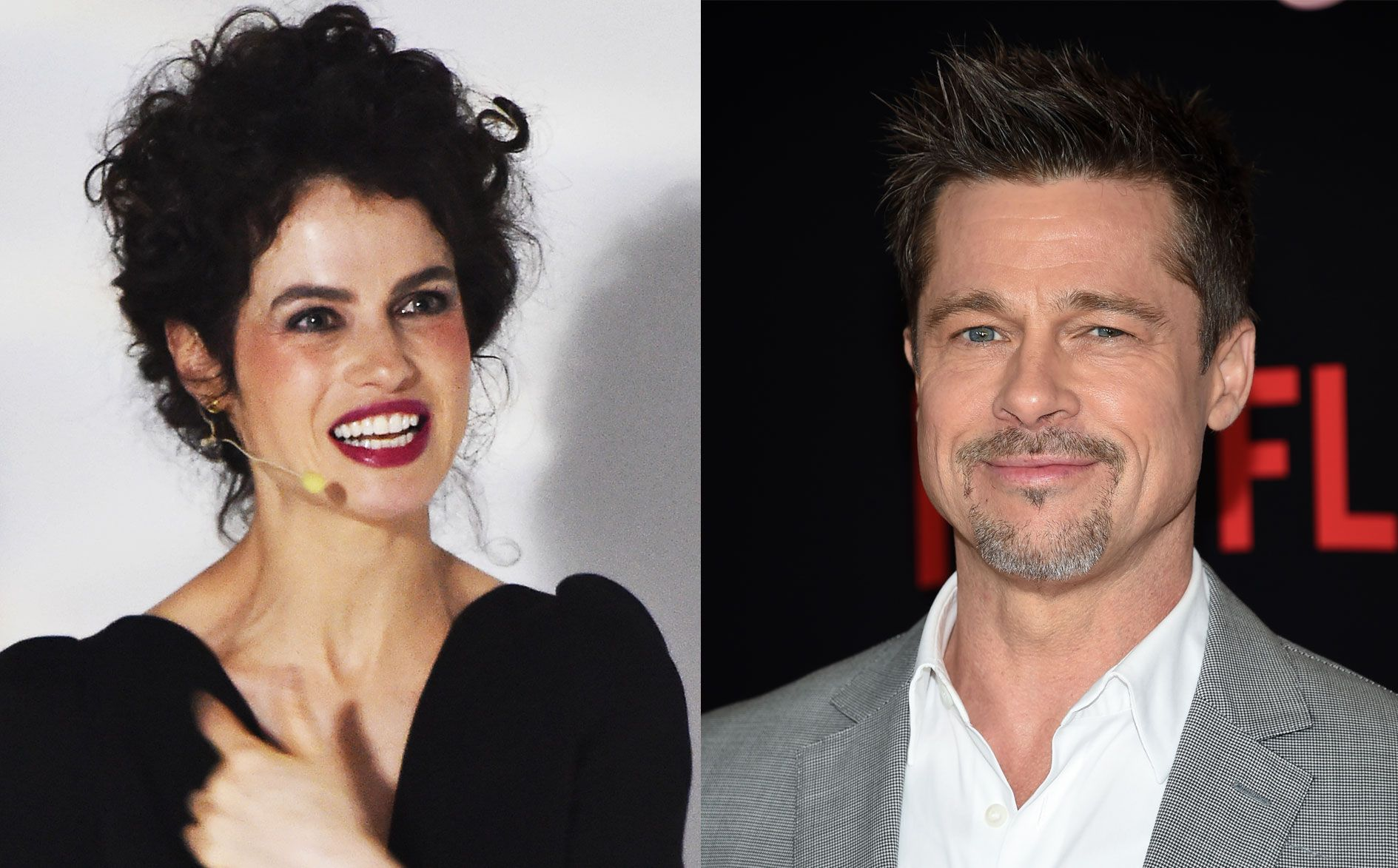 PAR? Brad Pitt og Neri Oxman er tause når det gjelder de intense spekulasjonene.
