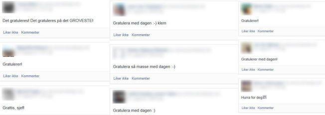 DAGEN ER DIN: Gratulasjoner kan hagle på Facebook når folk har bursdag.