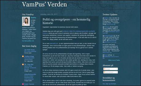 AVSLØRTE OVERGREP: Dette blogginnlegget av bloggeren VamPus fikk Eggen til å reagerer. Foto: Skjermdump