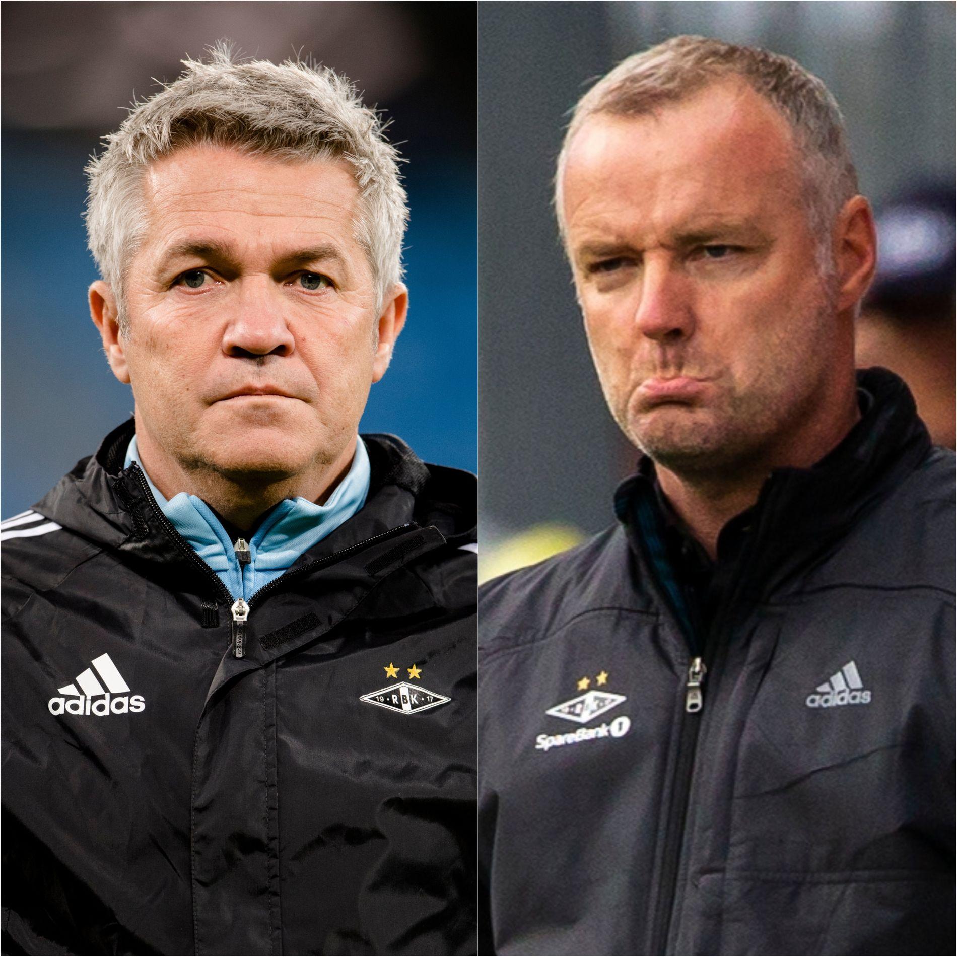 DA OG NÅ: Kåre Ingebrigtsen ble sparket i Rosenborg i juli. Deretter tok Rini Coolen over.