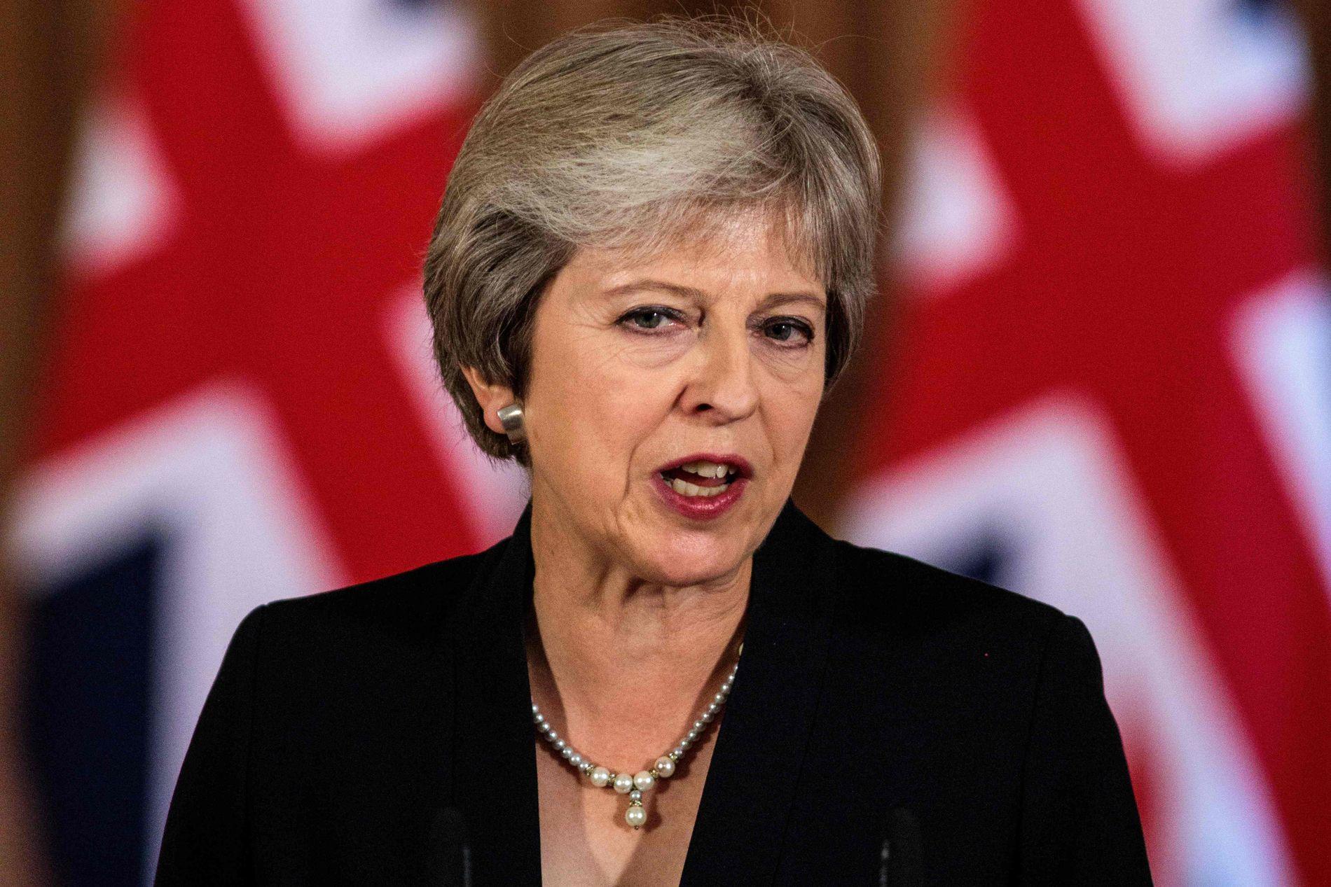UT AV EU: Storbritannias statsminister Theresa May fotografert i de britiske regjeringslokalene 21. september. Hun blir leder for det første landet som melder seg ut av EU.