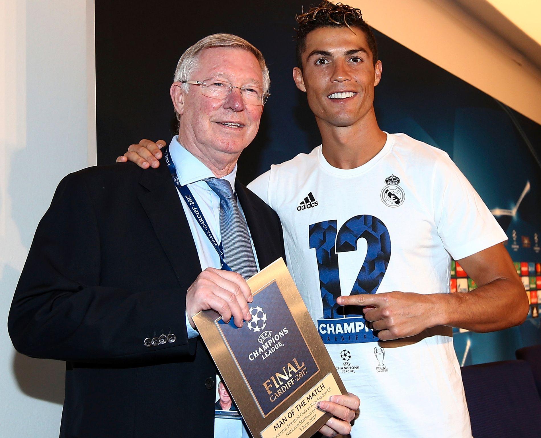 GODT FORHOLD: Sir Alex Ferguson og Cristiano Ronaldo, her etter forrige sesongs Champions League-finale.