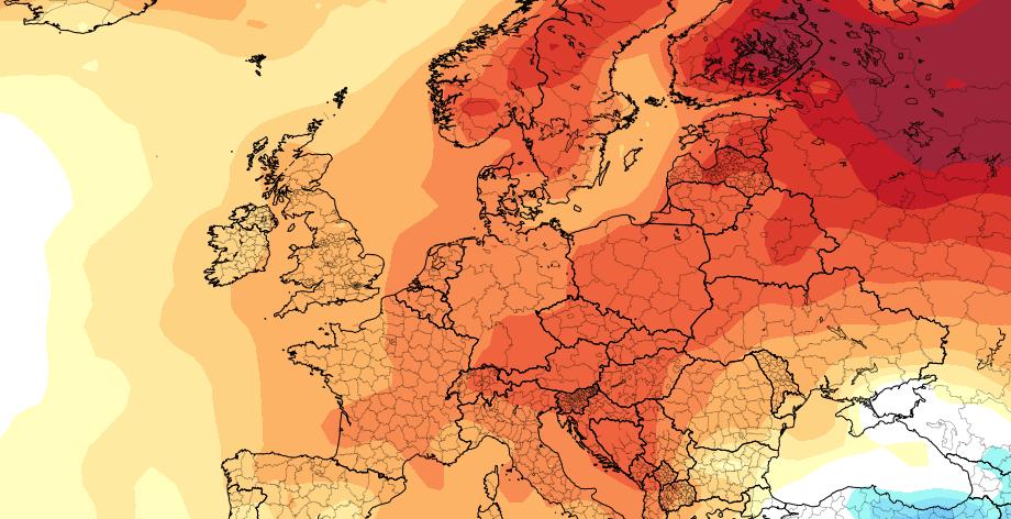 VÅRMÅNED: Alt tyder på at april blir en god og varm vårmåned i Nord-Europa, skal vi tro Climate Forecast System.