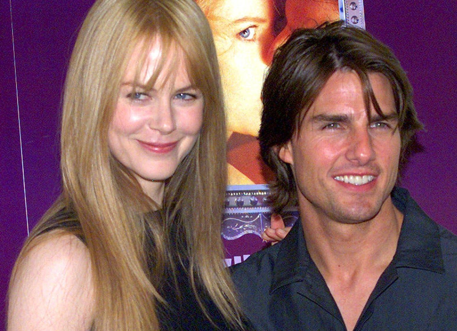 EKSPAR: Nicole Kidman og Tom Cruise på en pressekonferanse i Tokyo i 1999 – like før bruddet.