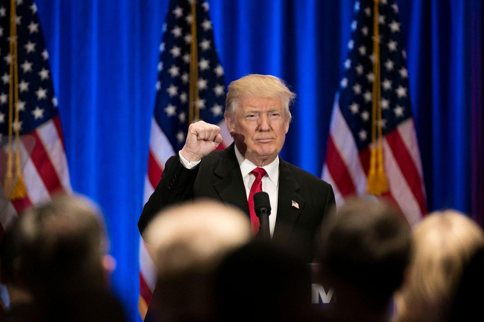 GIR INGEN GARANTI: Trump gir ingen garantier for at USA vil hjelpe dersom medlemsland blir angrepet av Russland.