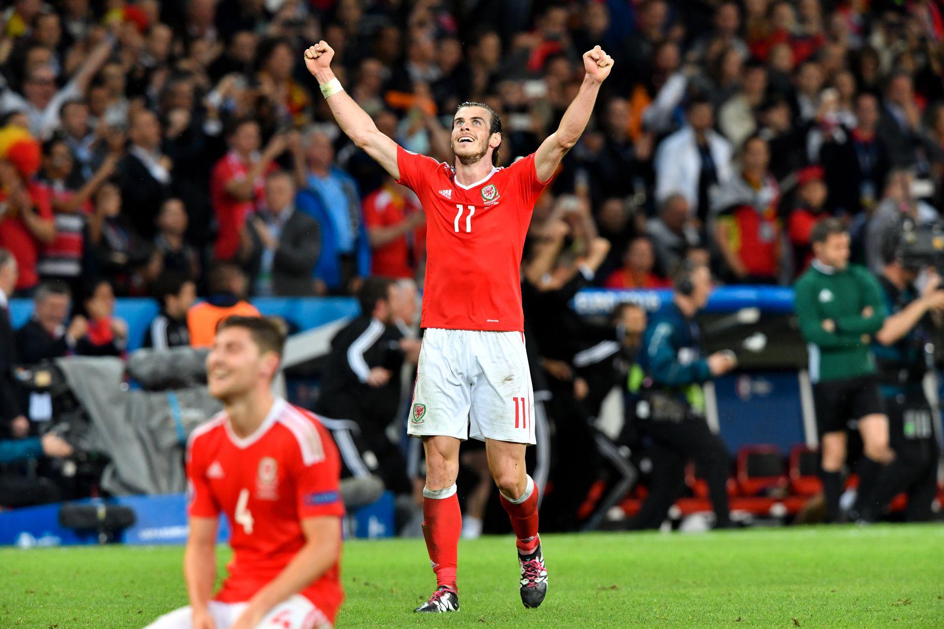 BALE-JUBEL: Gareth Bale jubler for seier mot Belgia under EM. Nå har stjernespilleren fått mer å juble for.