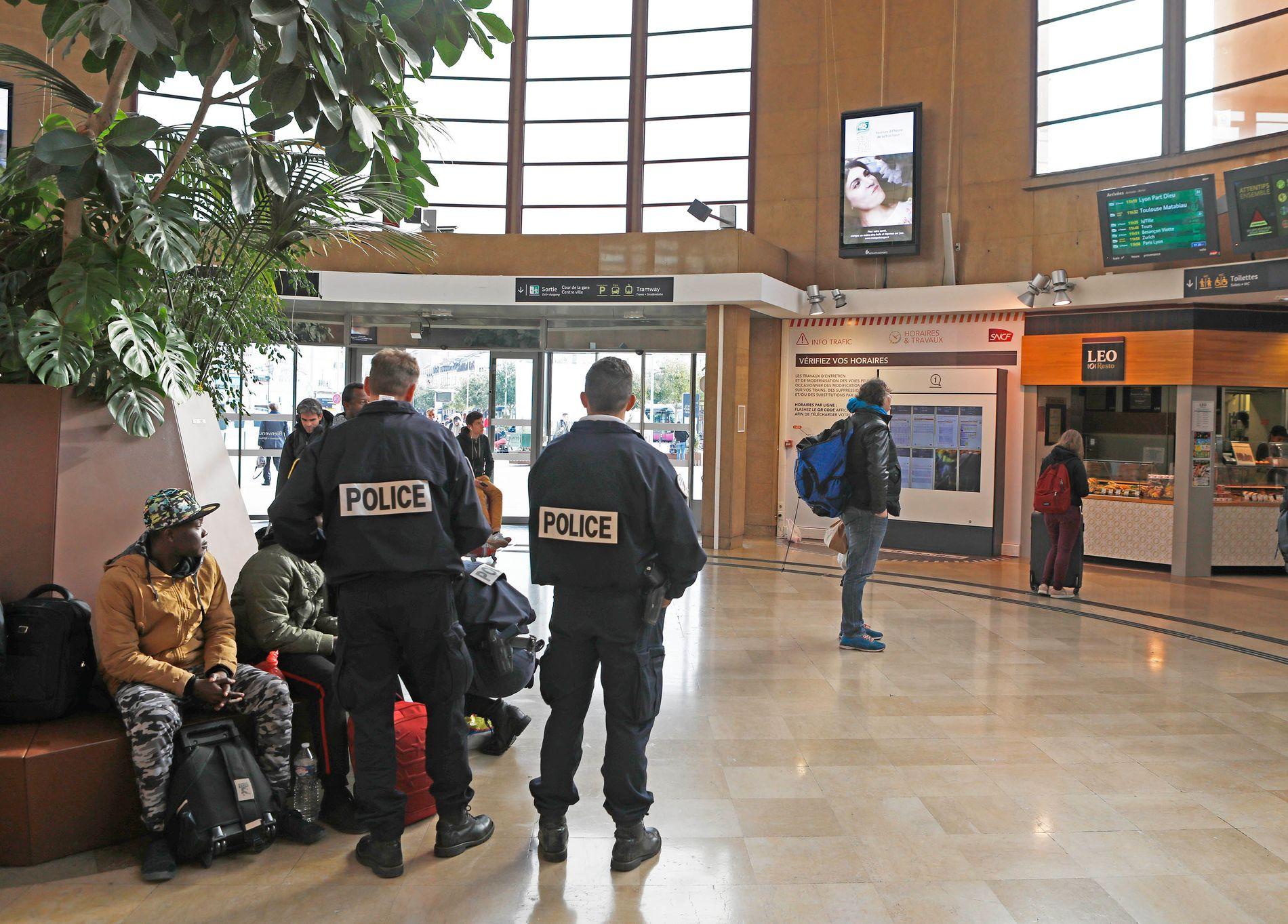PÅGREPET: Det var på denne togstasjonen i Dijon at Makaveli Lindén ble pågrepet av fransk politi tirsdag ettermiddag.