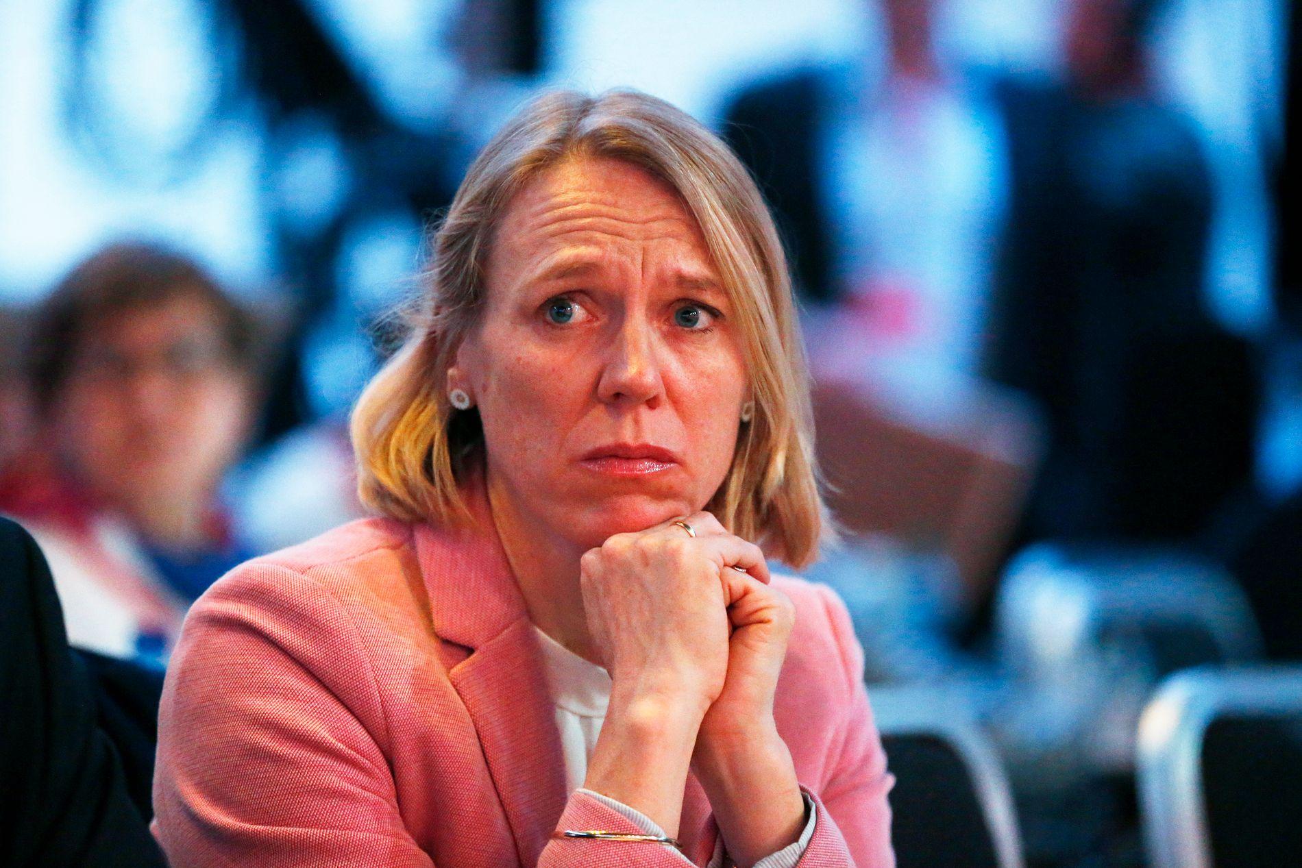 TROR IKKE PÅ REFORHANDLINGER: Aps Anniken Huitfeldt. Her under Arbeiderpartiets landsmøte på Folkets Hus.