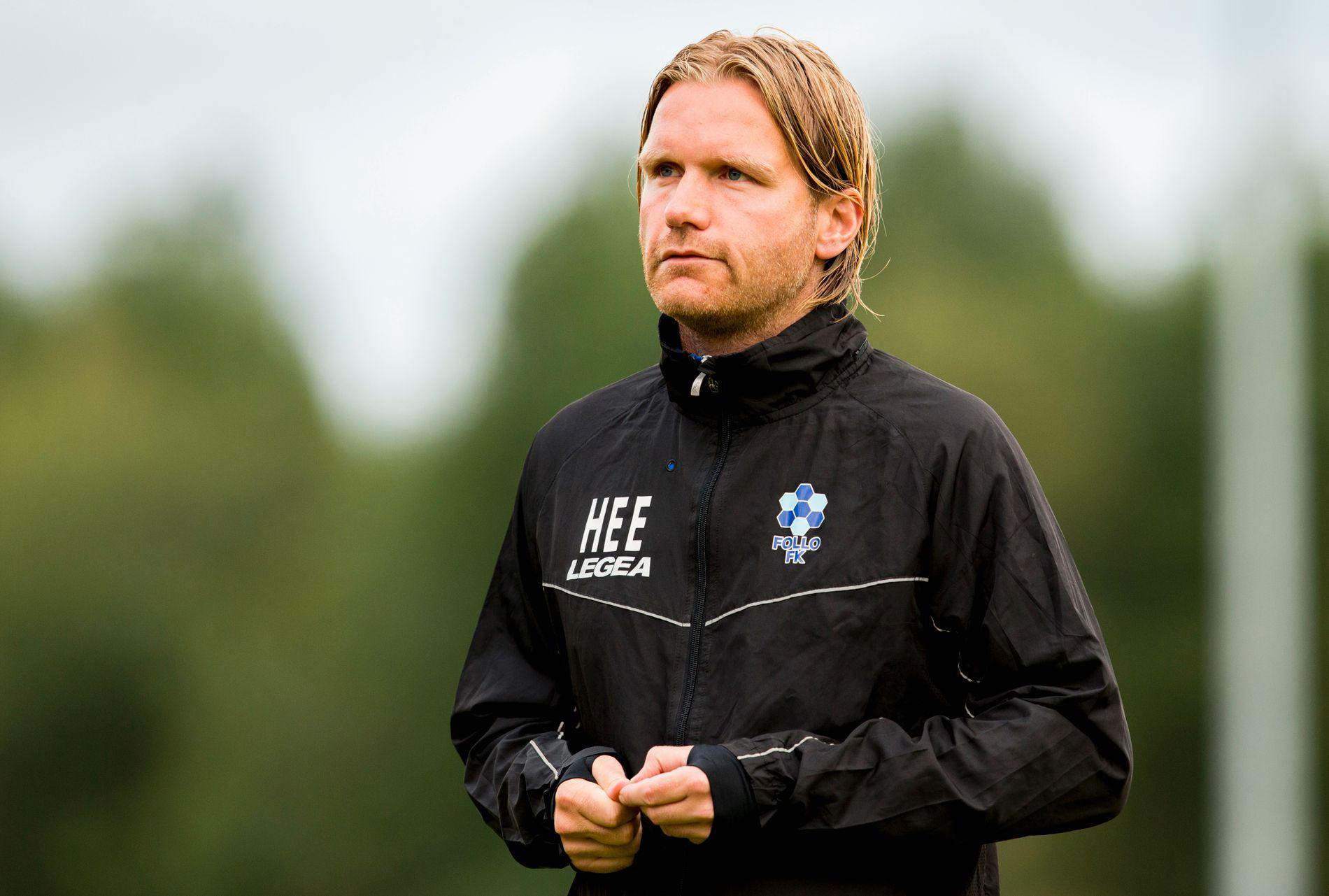 NY KLUBB: Hans-Erik Eriksen hadde stor suksess som Follo-trener. Her er han i forbindelse med hjemmekampen mot Brann i 2015.