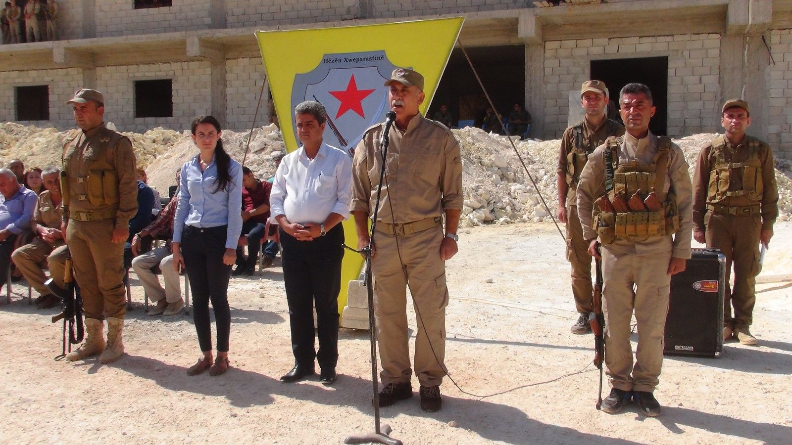 Bahjat Abdo fotografert under en militærøvelse i Afrin i oktober i fjor.