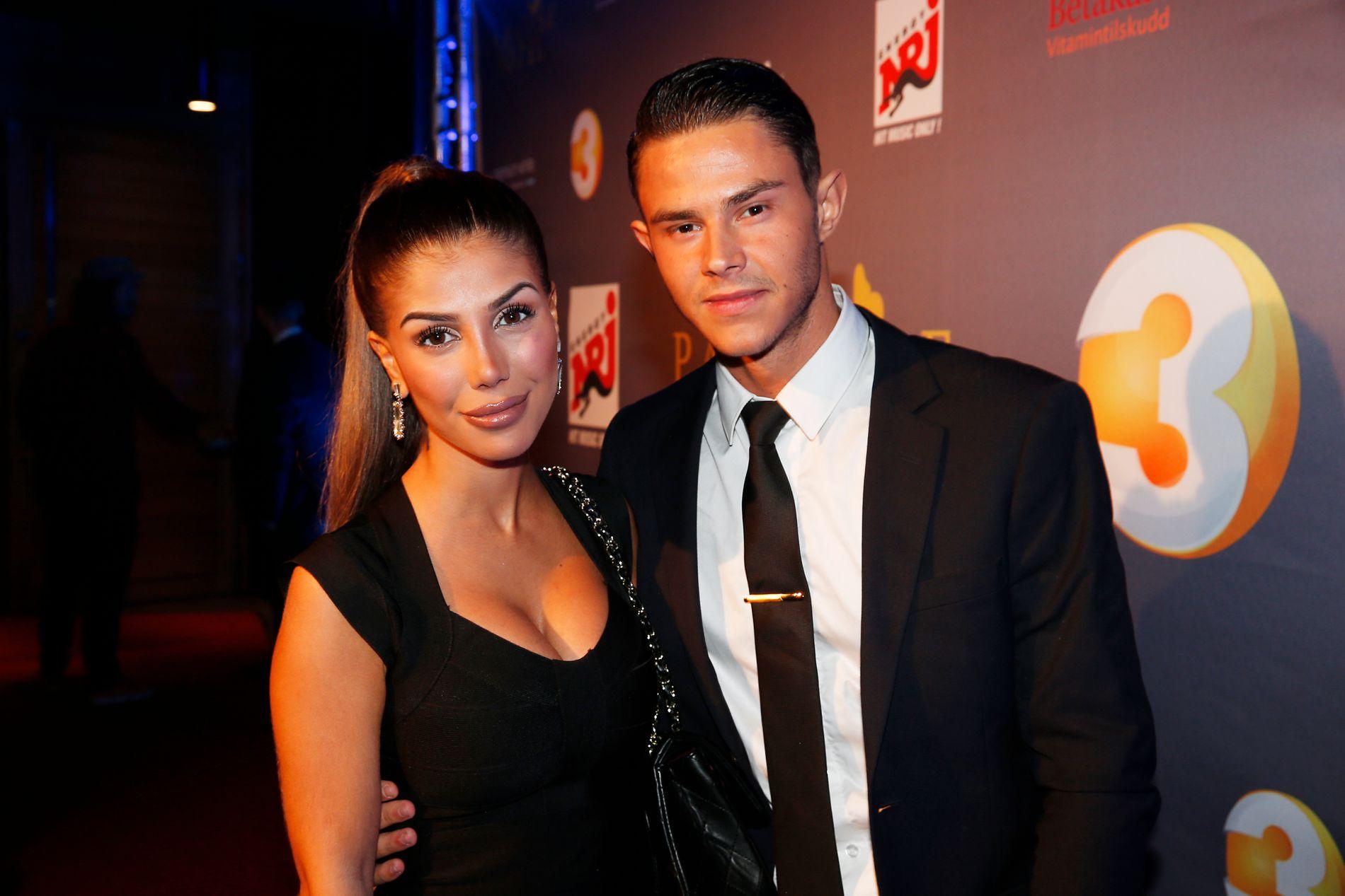 BRUDD: Her er Isabel Raad og Pierre Louis fotografert på premierefesten til «Paradise Hotel» i fjor.
