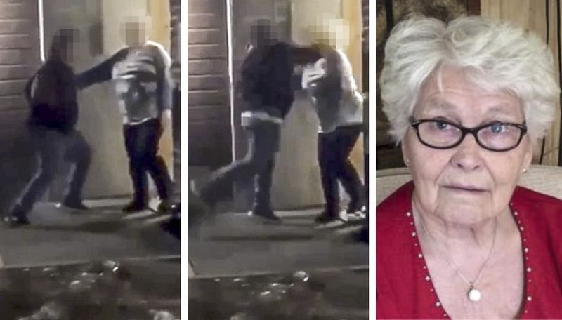 SPREDT: Videoen av at en gutt slår Norun Lemberget ble spredt på sosiale medier.