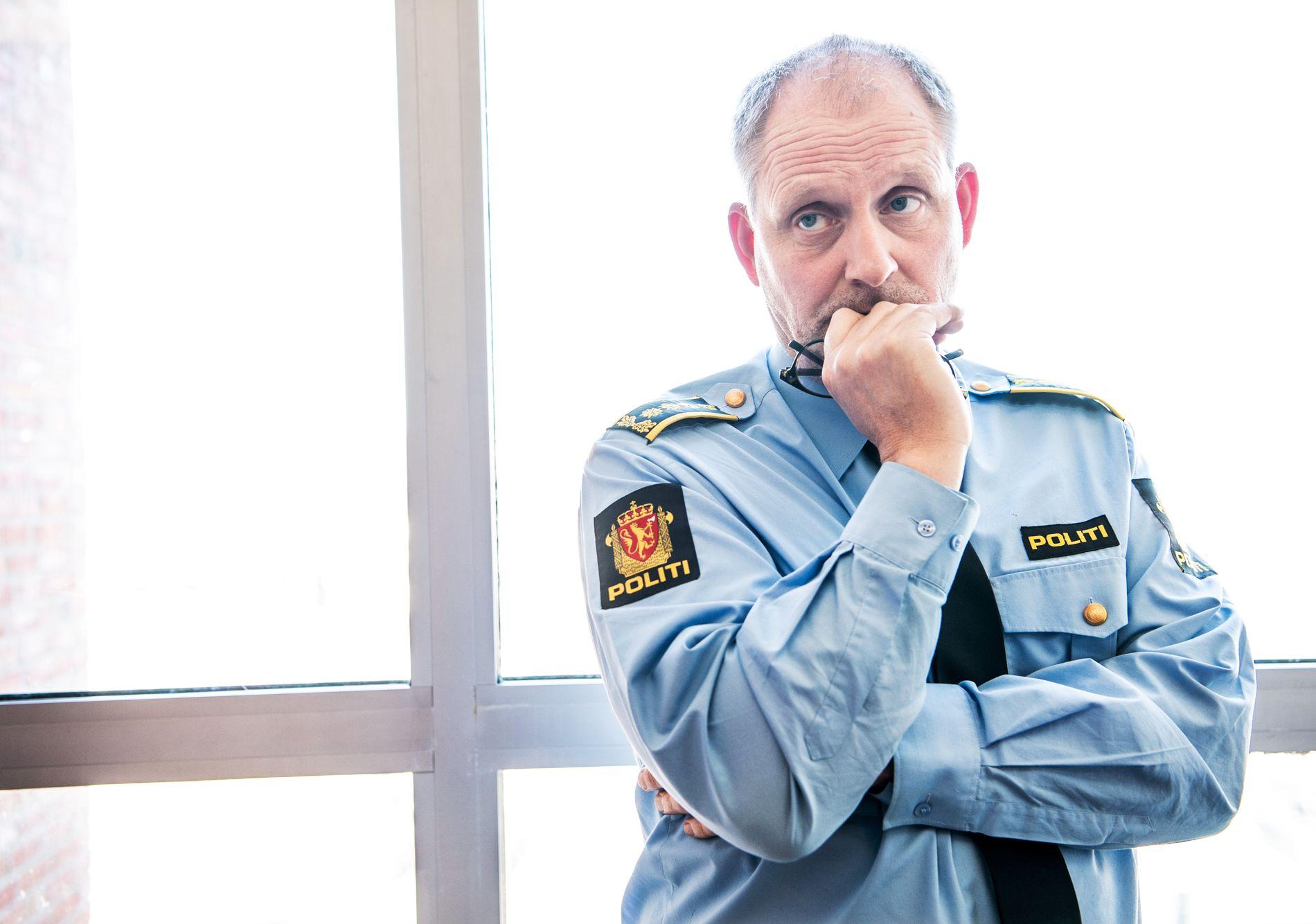 LEDER ETTERFORSKNINGEN: Politiinspektør Tommy Brøske.