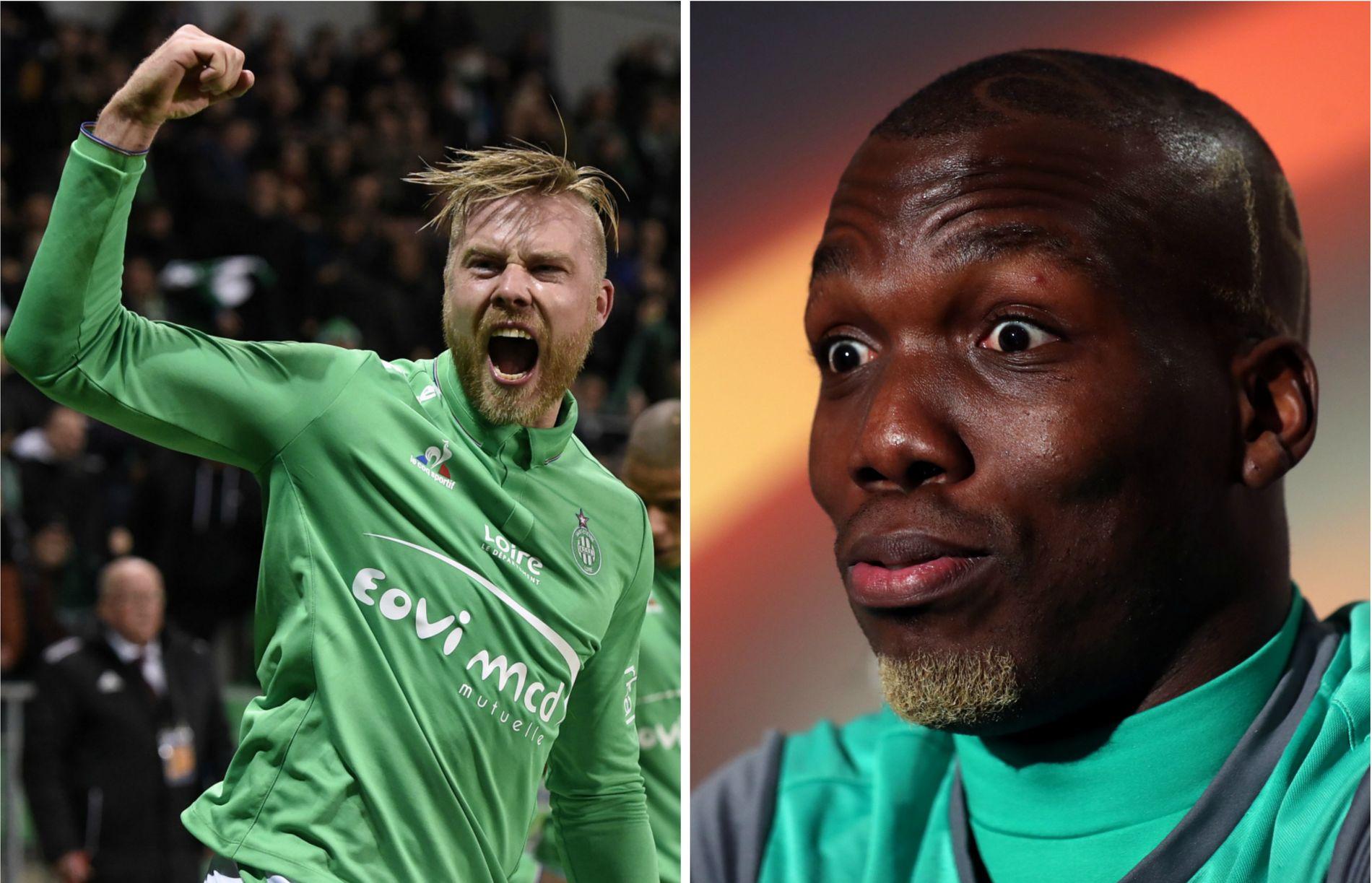 MISTER UNITED-KAMP: Alexander Søderlund (t.v.) er skadet og mister kampen mot Manchester United. Det synes Florentin Pogba, her under onsdagens pressekonferanse, er synd.